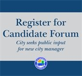 Register for candidate forum