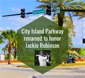 Jackie Robinson Parkway road sign