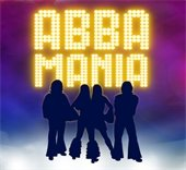ABBA MANIA performers standing in a group