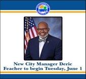 New city manager Deric Feacher