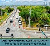 Oakridge Boulevard with road construction