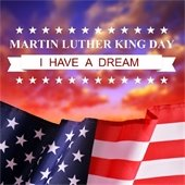 American flag, I Have a Dream