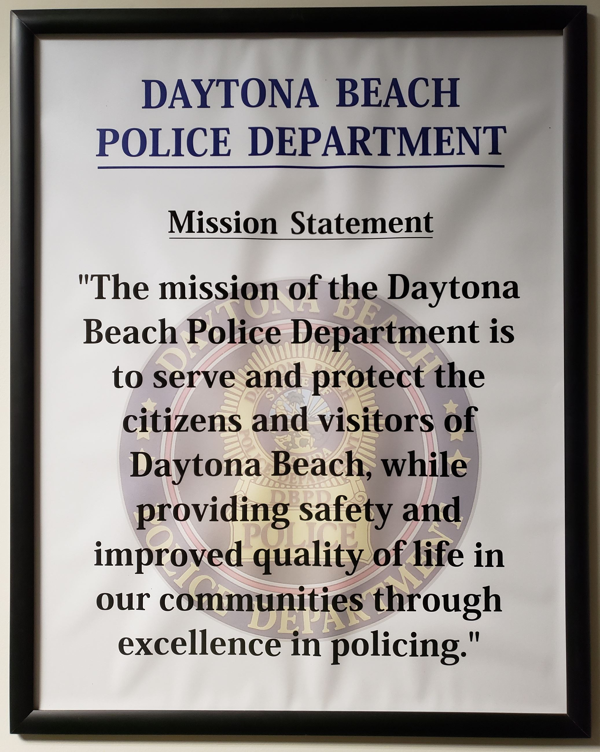 DBPD mission statement