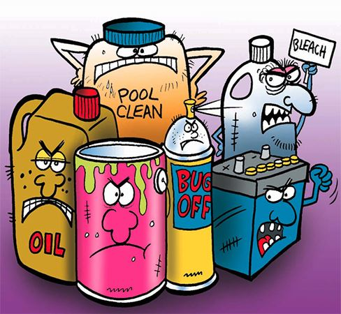 Image of commonly used household chemicals