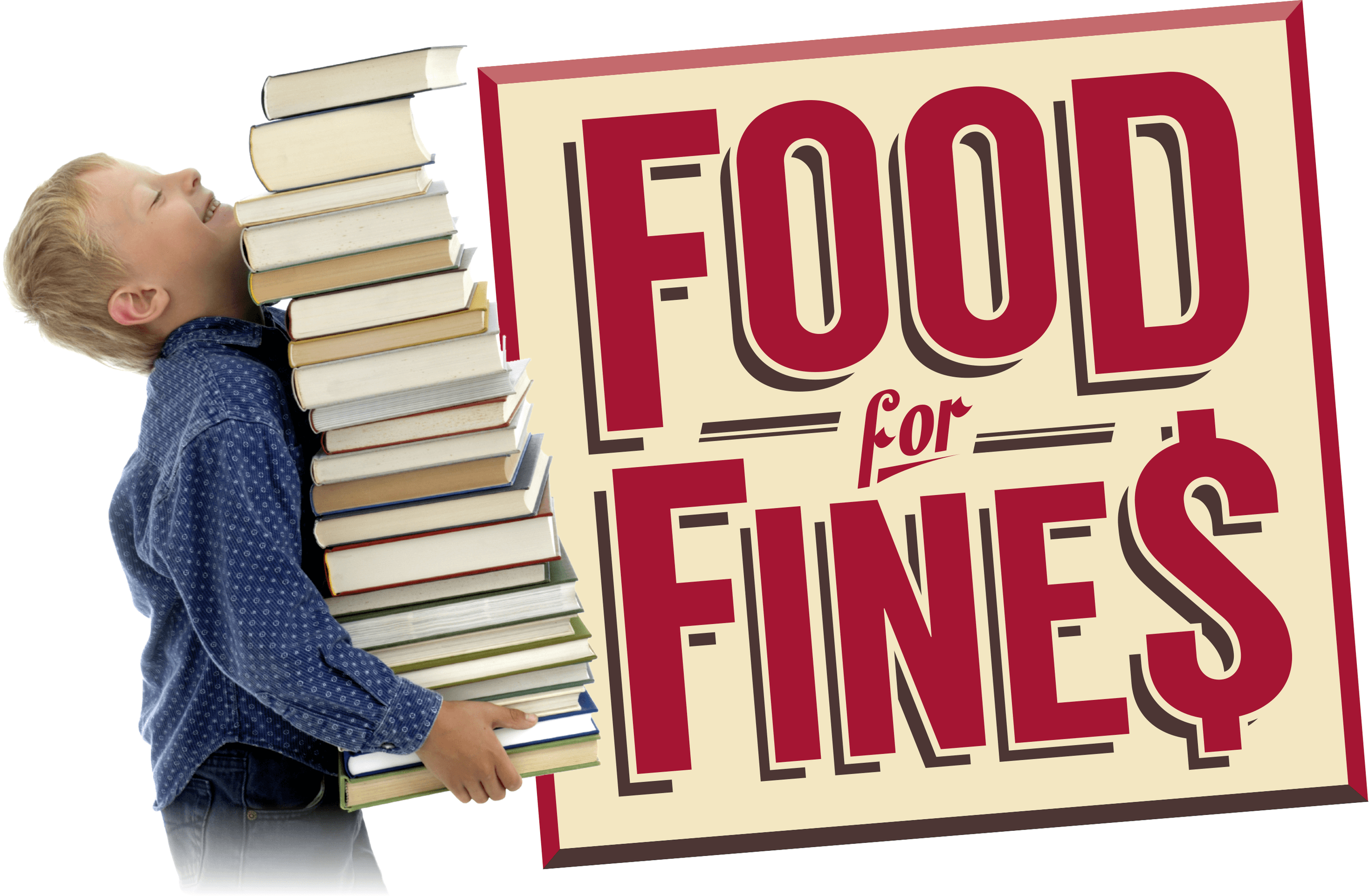 Food for Fines logo with kid