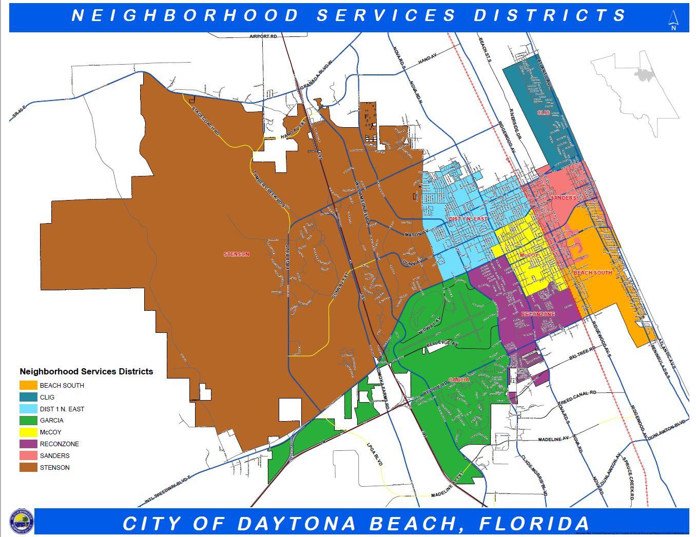 Daytona Beach Fl Official Website Geographic Information