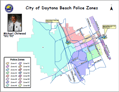 Map Of Florida Showing Daytona Beach.Daytona Beach Fl Official Website Geographic Information